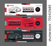 a set of web automotive... | Shutterstock .eps vector #701415685