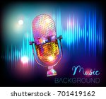 music background with vintage... | Shutterstock .eps vector #701419162