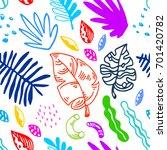 tropical seamless pattern | Shutterstock .eps vector #701420782