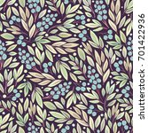 seamless pattern with plants.... | Shutterstock .eps vector #701422936