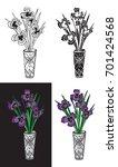 illustration on black and white ... | Shutterstock .eps vector #701424568
