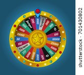 color lucky wheel template.... | Shutterstock .eps vector #701430802