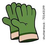 gardening tools pair of green... | Shutterstock . vector #70143199