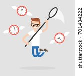 young character trying to catch ... | Shutterstock .eps vector #701434222