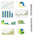 pie charts  bar and line...   Shutterstock .eps vector #70143448