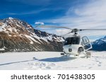 Helicopter Landing On Snow...
