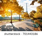 Sunny Morning And Eiffel Tower...