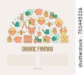 organic farming concept in half ... | Shutterstock .eps vector #701445226