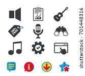 musical elements icons....