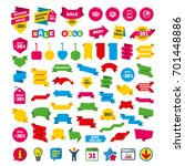 online shopping icons.... | Shutterstock .eps vector #701448886