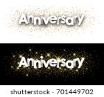 anniversary paper banners with... | Shutterstock .eps vector #701449702