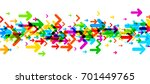 white banner with strip of...   Shutterstock .eps vector #701449765