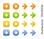 color smooth arrow icon web 2.0 ...   Shutterstock .eps vector #70145326