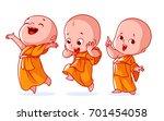 set of a cute character. a... | Shutterstock .eps vector #701454058