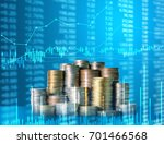 investment concept  coins graph ... | Shutterstock . vector #701466568
