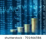 investment concept  coins graph ... | Shutterstock . vector #701466586