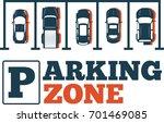 parking zone poster in...   Shutterstock .eps vector #701469085