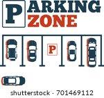 parking zone poster in...   Shutterstock .eps vector #701469112