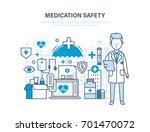 medication safety. modern... | Shutterstock .eps vector #701470072