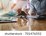 business team meeting and... | Shutterstock . vector #701476552