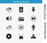 set of 12 editable media icons. ...