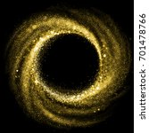 gold glitter particle swirl... | Shutterstock . vector #701478766