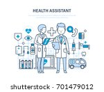 health assistant concept.... | Shutterstock .eps vector #701479012