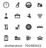 auto icons set and symbols for... | Shutterstock .eps vector #701483422