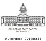 california state capitol is... | Shutterstock .eps vector #701486656
