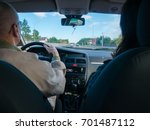 driving a car  view from the... | Shutterstock . vector #701487112