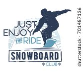vector badge theme snowboard in ...   Shutterstock .eps vector #701487136