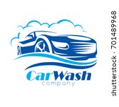 Stock vector car wash stylized vector symbol design elements for logo template 701489968
