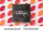 autumn sale background layout... | Shutterstock .eps vector #701501065