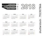 2018 calendar in italian... | Shutterstock .eps vector #701507866