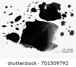 set of ink stains. hand drawn... | Shutterstock .eps vector #701509792