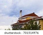 house roof against the sky | Shutterstock . vector #701514976
