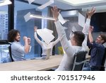 group of young business people... | Shutterstock . vector #701517946