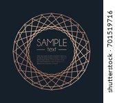geometric rose gold design...   Shutterstock .eps vector #701519716