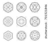 set of sacred geometry shape... | Shutterstock .eps vector #701521846