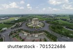 Small photo of Aerial view of Monument Simpang Lima Gumul or commonly abbreviated as SLG is one of the buildings that became the icon of Kediri Regency that resembles the Arc de Triomphe in Paris, France.