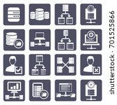 database server icon set vector | Shutterstock .eps vector #701525866