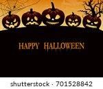 halloween creepy vector... | Shutterstock .eps vector #701528842