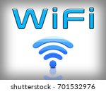 wifi text and logo in white... | Shutterstock . vector #701532976