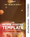 movie poster template ... | Shutterstock .eps vector #701533882