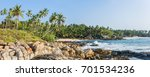 panoramic view of the beach... | Shutterstock . vector #701534236