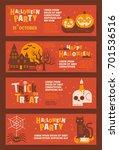 halloween | Shutterstock .eps vector #701536516