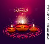 happy diwali illustration ... | Shutterstock .eps vector #701549218