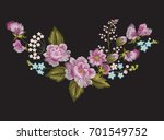 embroidery traditional floral... | Shutterstock .eps vector #701549752