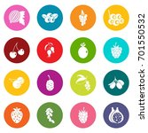 berries icons many colors set... | Shutterstock .eps vector #701550532