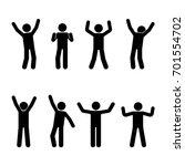 stick figure happiness  freedom ... | Shutterstock .eps vector #701554702